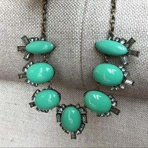 Minty Green J.Crew rhinestone necklace